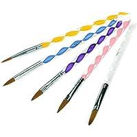 5pcs Acrylic Nail Art UV Gel Carving Printing Pen Brush Liquid Powder DIY