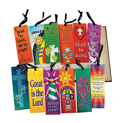 Mega Religious Bookmark Assortment (12 Dozen) - Bulk -