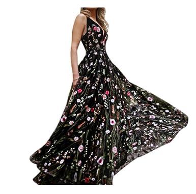 Vestido de Fiesta Mujer Falda largas Elegante de Noche para Boda ...