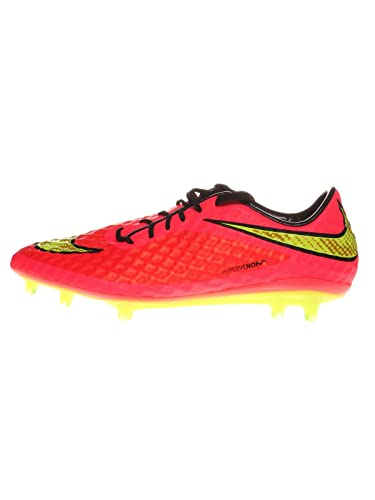 on sale 99a6c 7d778 Nike Mens Hypervenom Phantom FG (Bright Crimson Hyper Punch Volt) (6