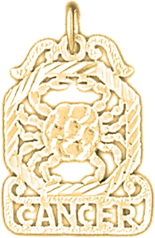 14K Yellow Gold-plated 925 Silver Zodiac Jewels Obsession Silver Zodiac Cancer Pendant Cancer Pendant