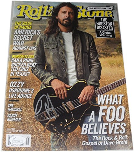 Dave Grohl Signed Auto Rolling Stone Full Magazine Sexy Foo Fighters JSA S93318