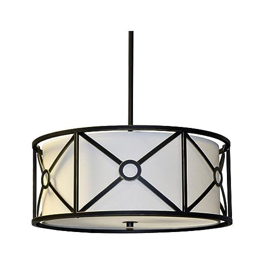 Amazon.com: Pendants - Lámpara de techo (4 unidades, acabado ...