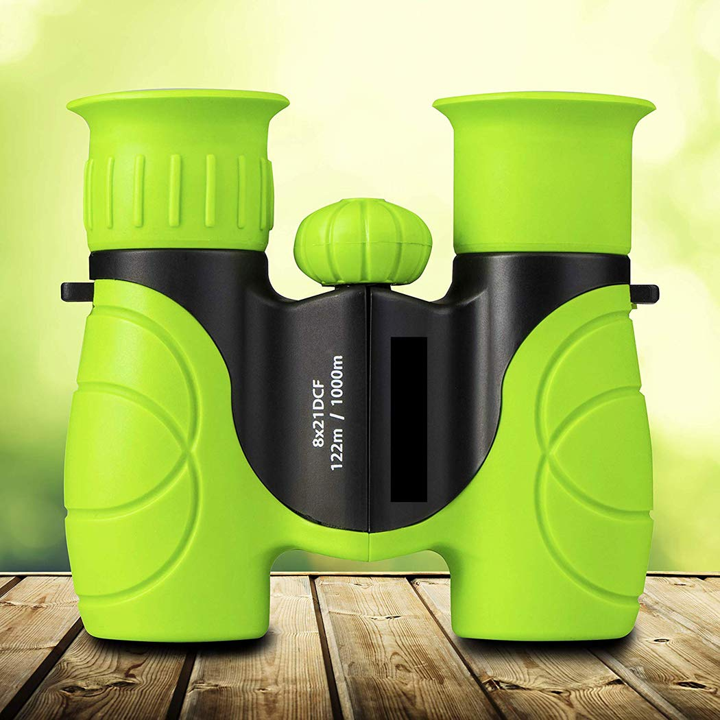Binoculars for Children, with Strong Magnification 8 X 21, The Best Gift for Small Adventurers Extensive Set Includes Magnifying Glass Compass for Watching Animals, Landscapes and Stars by XUEXUE