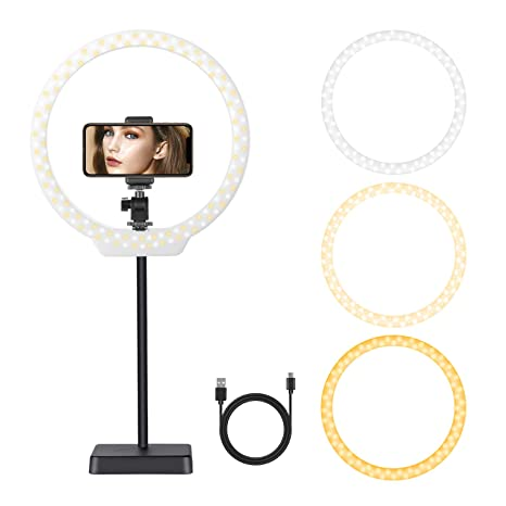 32c5c793c2f Amazon.com : Neewer 10 inches USB-Powered LED Ring Light: 2-Power 5W ...