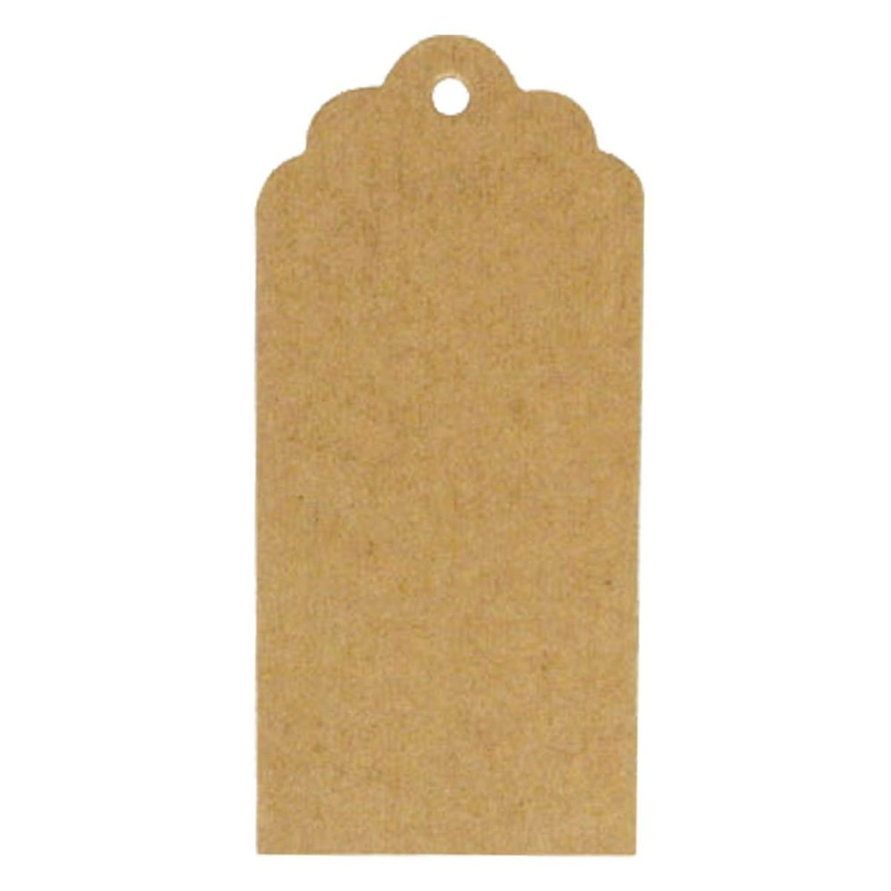 amazoncom wrapables 50 gift tagskraft hang tags with free cut strings for gifts crafts and price tags scalloped tag arts crafts sewing