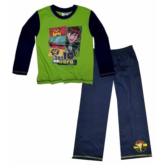 Ben 10 - Conjunto de pijama de manga larga para niños (4-5 años