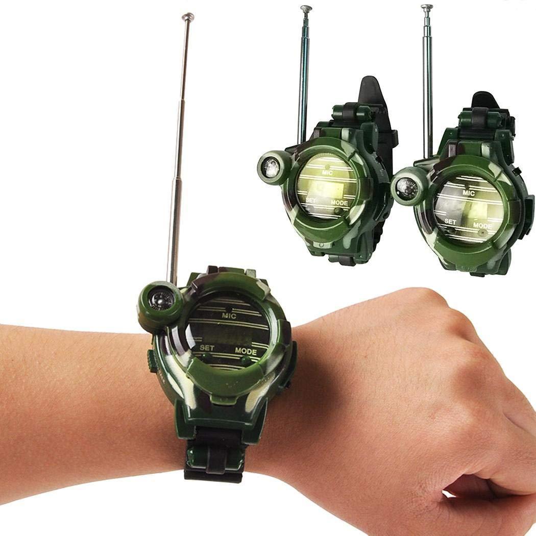 hiriyt Children Camouflage Watch Wireless 7 in 1 Outdoor Children's Walkie Talkie Toy Walkie Talkies by hiriyt (Image #2)