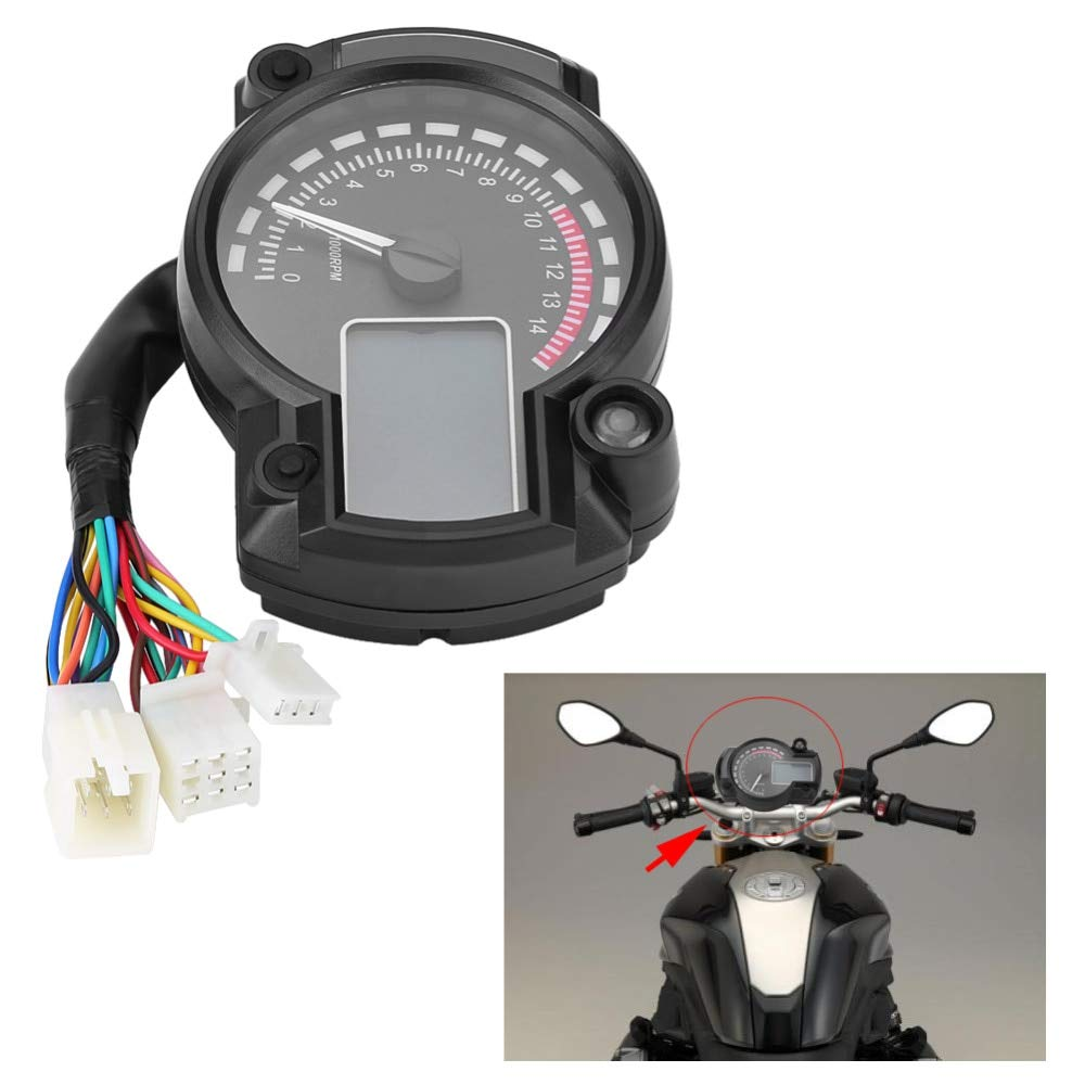 Amazon.com: |Instruments|Motorcycle Digital Light LCD Speedometer Odometer Tachometer W/Speed Sensor 7 color display oil level meter Modern Universal|by ...