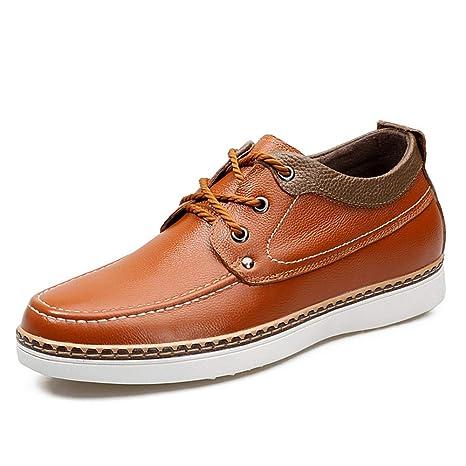 """Jusheng Mocasines Casuales para Hombres Zapatos de Ascensor más Altos de 2""""(6 cm"""