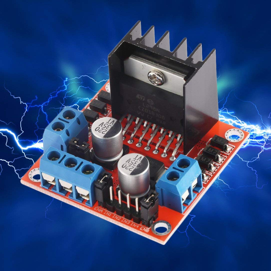 Gute qualit/ät dual h br/ücke schrittmotorantrieb controller board modul f/ür arduino l298n motor driver board modul farbe: schwarz