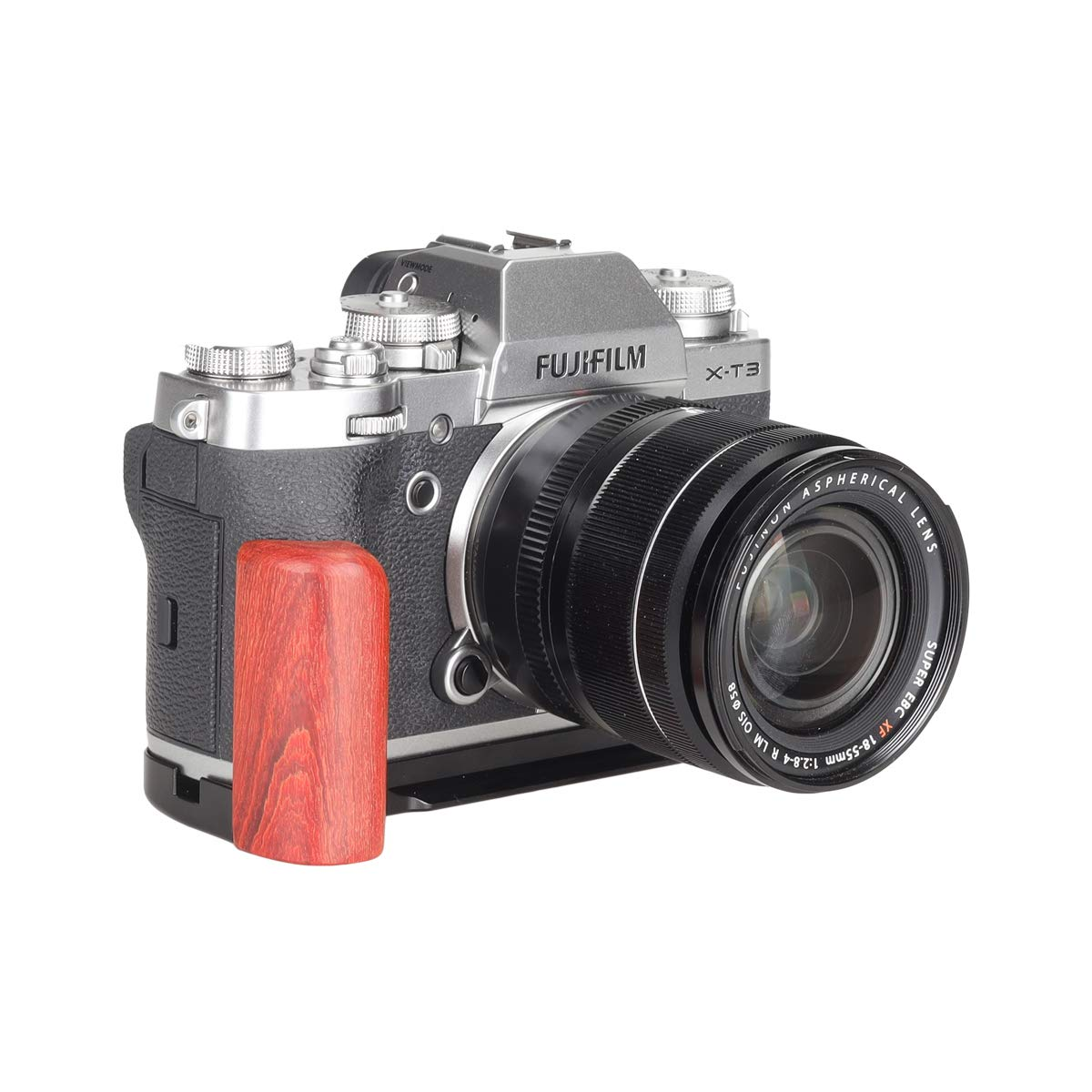 WEPOTO GP-RX100 Tripod Aluminum Alloy Quick Release L Plate Bracket Metal Wooden Camera Handle Hand Grip for Sony RX100//RX100Ⅱ//RX100Ⅲ//RX100Ⅳ//RX100ⅤⅡ