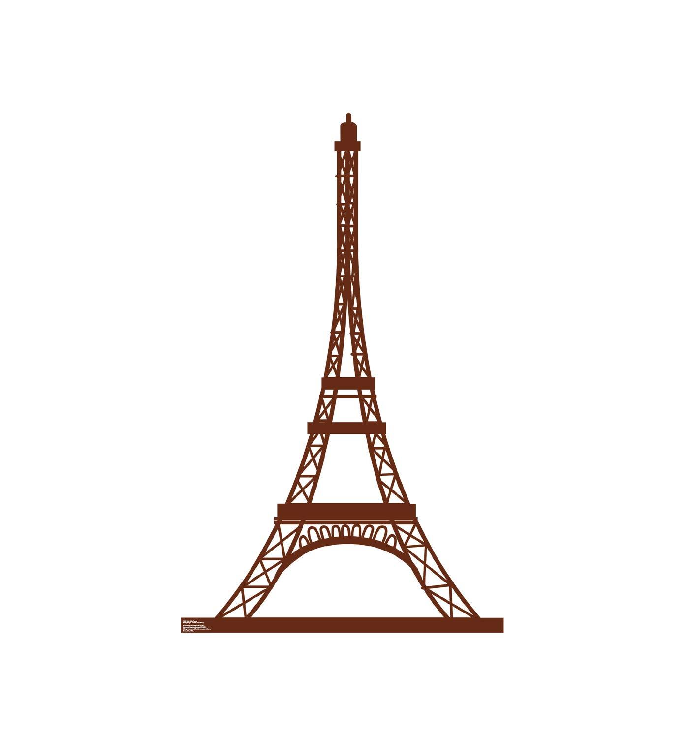 Advanced Graphics Paris Eiffel Tower Life Size Cardboard Cutout Standup - Paris Party Theme