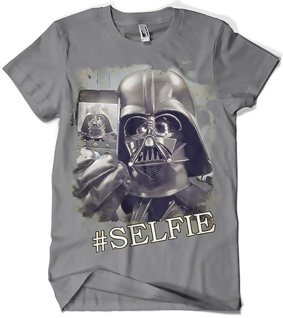 Camisetas La Colmena, 018-Camiseta Star Wars - Selfie Dart Vader: Amazon.es: Ropa y accesorios