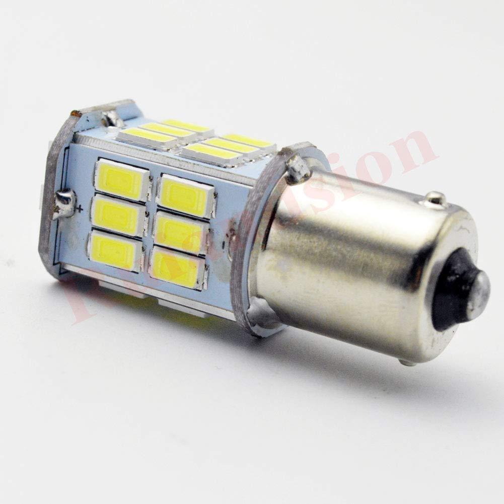 Amber//Yellow//Orange 2pcs 6V Car//Auto//Vehicle//Motorcycle 1156 BA15S 30-SMD 5730 LED Turn Signal Reverse Backup Light Bulb Lamp