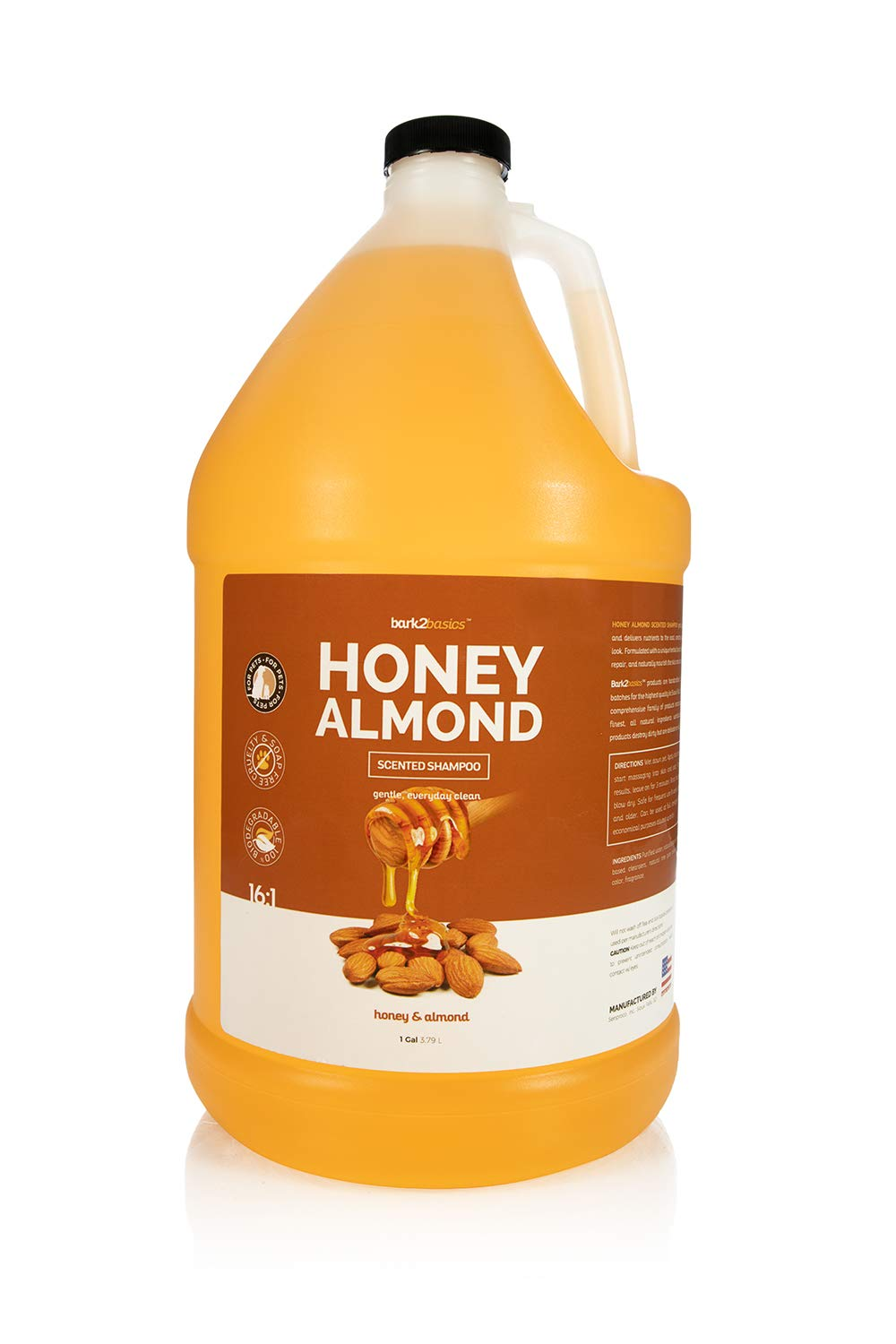 Bark 2 Basics Honey & Almond Shampoo, 1 Gallon