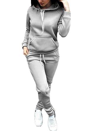 außergewöhnliche Farbpalette wähle echt 2019 Ausverkauf JackenLOVE Damen Jogginganzug Langarm Anzug Pullover Sportanzug  Trainingsanzug Sweatshirt Anzug mit Hose 2pcs