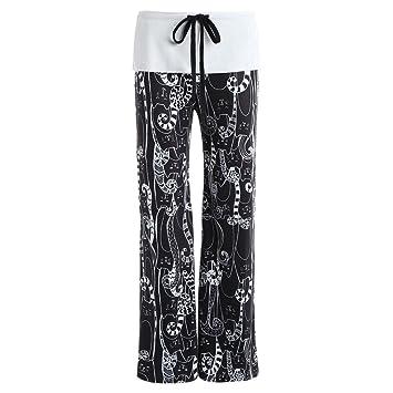 Amazon.com: Pantalones sueltos para mujer, estampado de ...