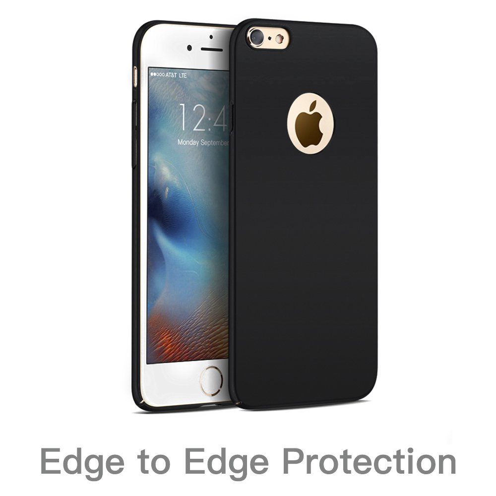 Hülle für iPhone 6 6S, Senisttech iPhone 6S 6 Ultra Slim Schutzhülle ,Anti-Scratch Shockproof und Schutz vor Fingerabdruck, Staub Handyhülle Case für iPhone 6/6S 4.7 Zoll (Schwarz)