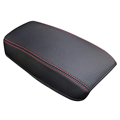 Leegi Car Armrest Box Cover Center Console Saver Covers for 2020 2020 Toyota Corolla,Black with Red Stitches: Automotive