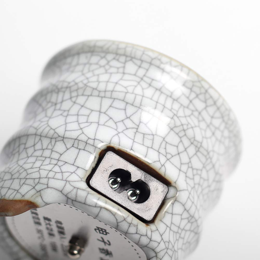 Porche y jard/ín Ceramic Incense Burner Quemador de Incienso de cer/ámica el/éctrico Porcelana para el hogar Patio balc/ón Tiempo de Quemador de Aceite Esencial de aromaterapia
