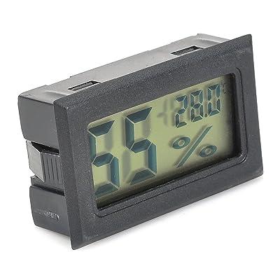 3,8cm LCD écran Thermomètre hygromètre, multifonctionnel Digital Température Intérieure moniteur pour enfants Maison/voiture/bureau