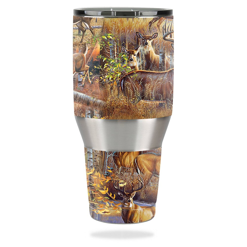 MightySkins Skin for Ozark Trail 40 oz Tumbler – Deer Pattern   Protective, Durable, and Unique Vinyl Decal wrap Cover   Easy to Apply, Remove, and Change Styles   Made in The USA