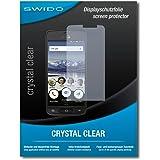 """2 x SWIDO® Pellicola Protettiva doro 8040 Screen Protector Pellicola Protettiva Film """"CrystalClear"""" invisibile"""