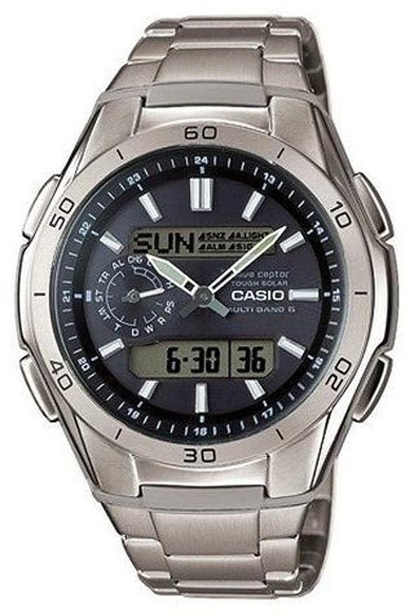 Casio WVA-M650TD-1AER - Reloj Hombre Analógico/Digital con Correa de Titanio: Amazon.es: Relojes