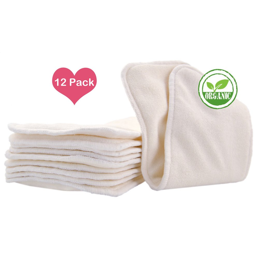 Love My Baby Cloth Diaper 12pcs 4layers Super Water Absorbent Antibacterial Bamboo Inserts 10LOVE