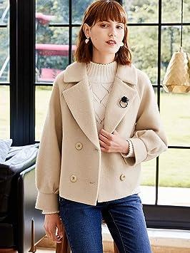 clothes Xiao Nizi Abrigo para Mujer, Ropa de Otoño E Invierno 2018, Abrigo Corto de Lana Corto de Chaqueta: Amazon.es: Deportes y aire libre