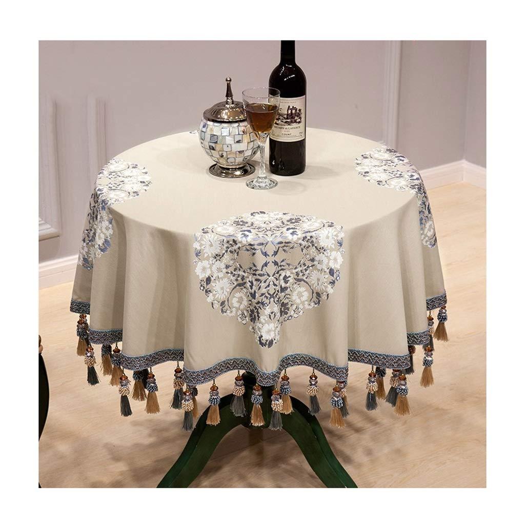 ラウンドテーブルクロス テーブルクロス現代のコーヒーテーブル防塵耐久性のある小さなラウンドテーブルクロス家庭用レストランの宴会ビッグラウンドテーブルクロス複数のサイズ テーブルクロス (色 : B, サイズ さいず : Round-200cm) Round-200cm B B07RXXWCQQ