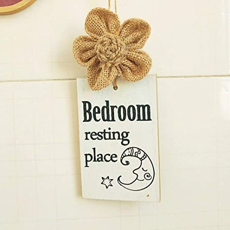 Garneck Wood Door Knob Hangers Kids Room Door Knob Signs Hanging Decor DIY Craft Hanging Tag Office Hotel Bedroom