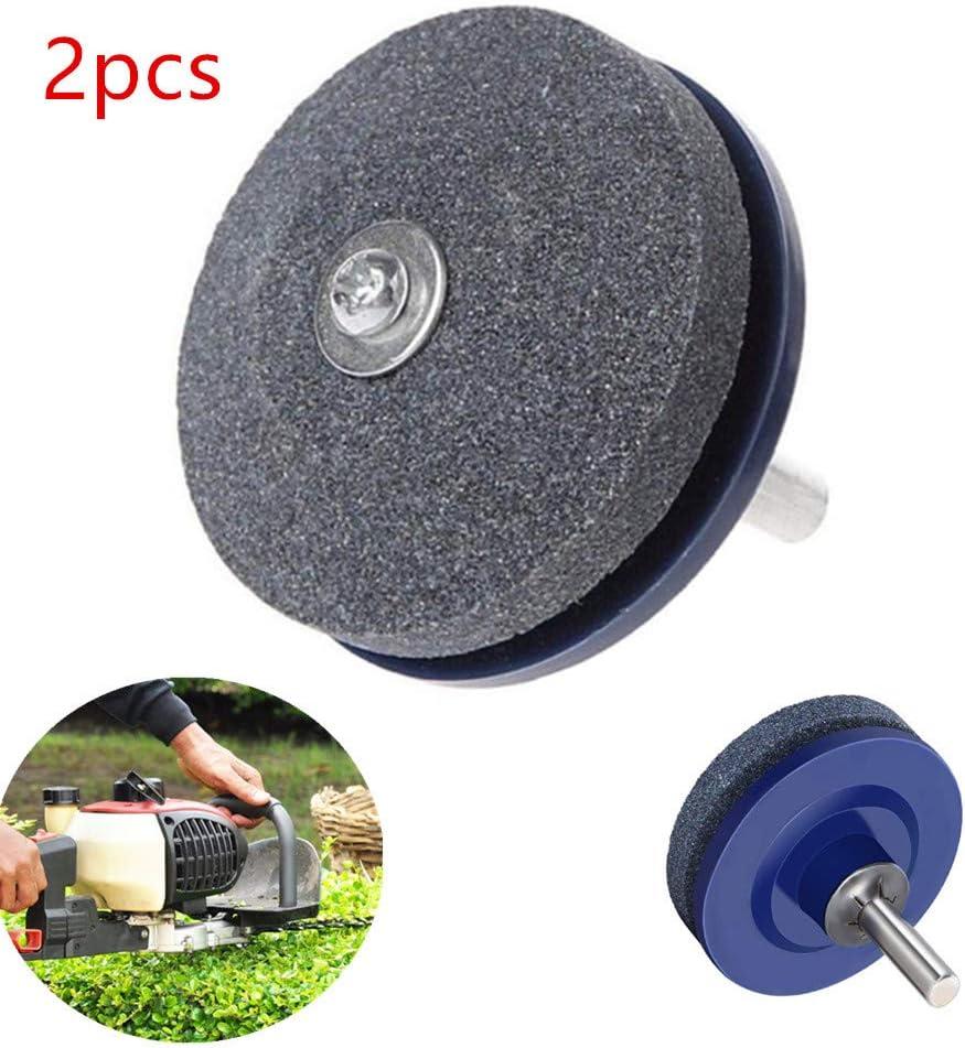 4EVERHOPE - Afilador de Cuchilla de cortacésped para Taladro eléctrico, afilador de Taladro, Cortador Giratorio y afilador de Herramientas (50 mm), 2pcs