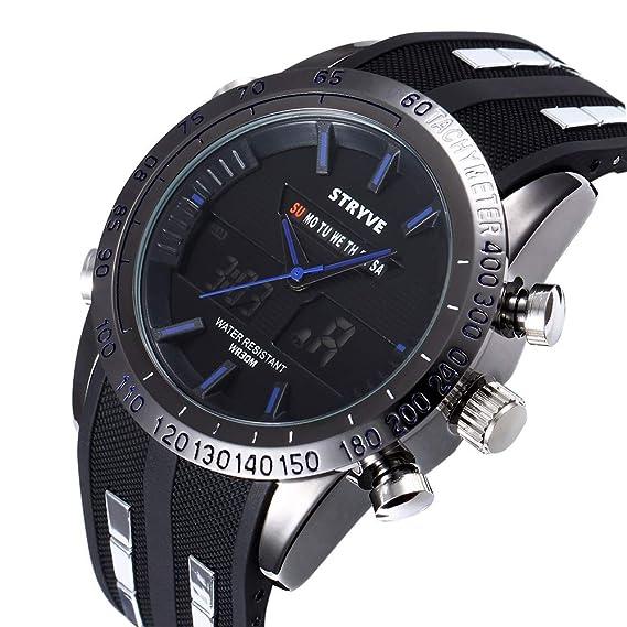 FIZILI - Reloj de pulsera para hombre, digital, deportivo, militar, esfera grande