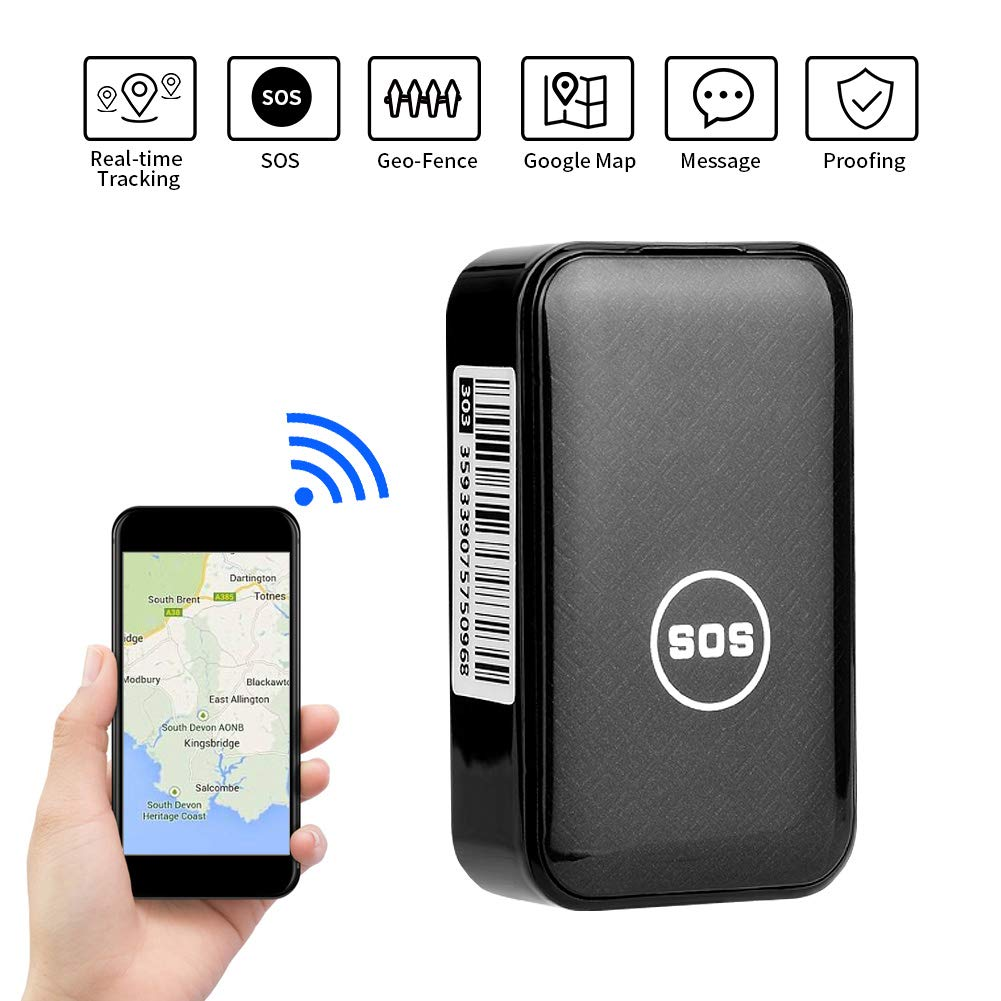 GPS Tracker Dooreemee Mini Real Time Tracking Locator Device Anti Theft Portable for Vehicles Car with Voice Monitor and No Subscription