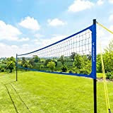 Vermont Portable Volleyball Set - Aluminium Telescopic Posts - Carry Bag Included (Pro Set)