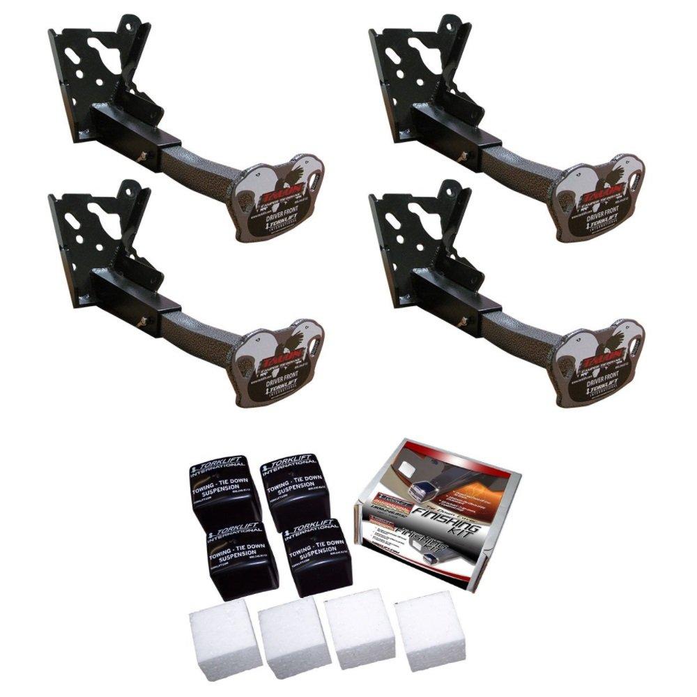 Torklift C2220A/C3215A Pair of Front & Rear Talon Aluminum Tie Down Bundle for Chevrolet Silverado 2500/3500