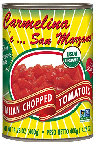(Carmelina San Marzano Organic Italian Chopped Tomatoes in Puree, 14.28 ounce (Pack of 12))
