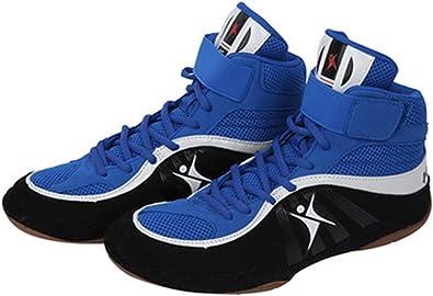 Chaussures de Lutte Boxe Bottes Semelle en Caoutchouc Combat Formation Sport Sneakers pour Hommes Femmes Enfants Enfants Adolescents