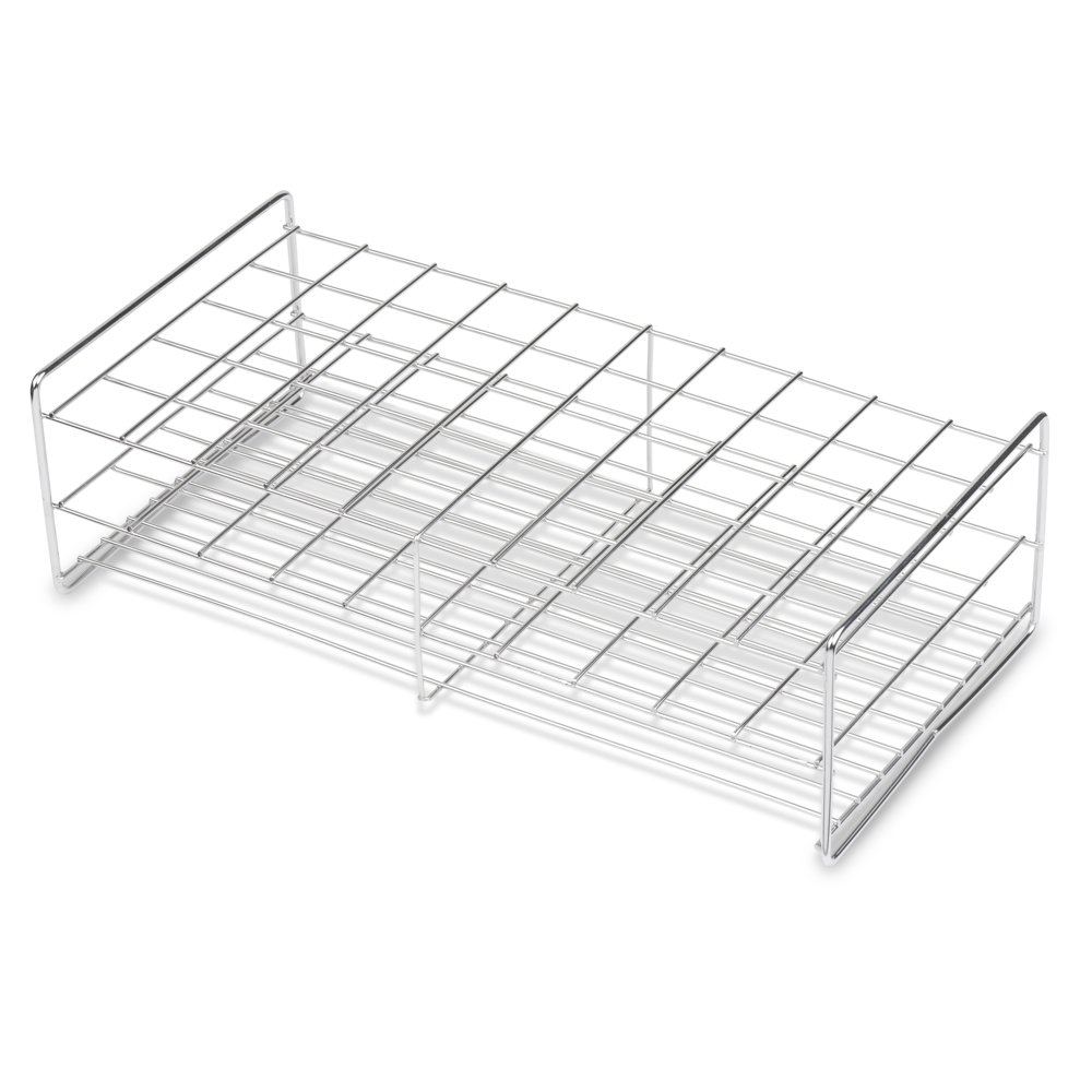 Stainless Steel Test Tube Rack, 30mm, 50 Place, Wire Constructed, Handles, Karter Scientific 235F3 (Single) by Karter Scientific