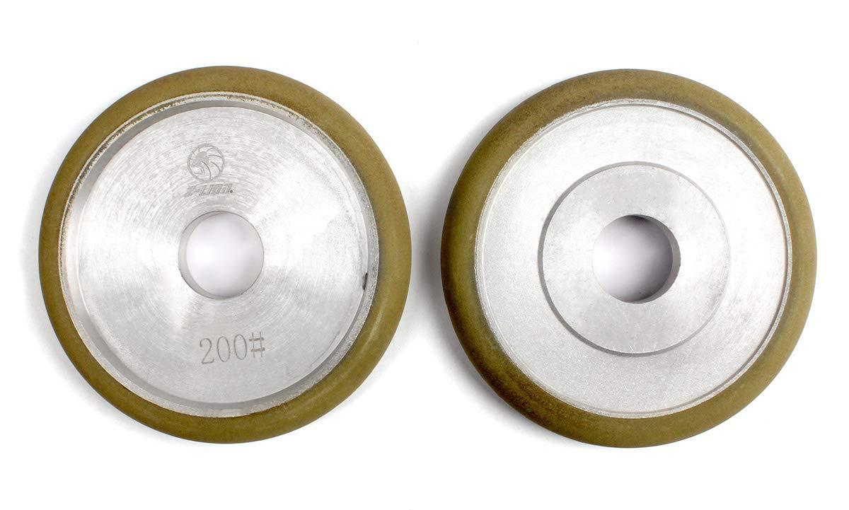 Diamond Fluting Wheels 4'' Groove Grinding Wheels for Marble Granite Polishing 3-PCS Girt 200