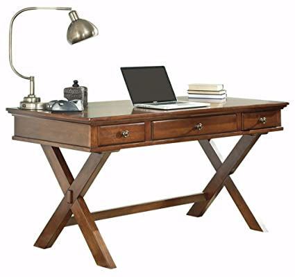 Ashley Furniture Signature Design   Burkesville Home Office Desk   X Shaped    Vintage Casual