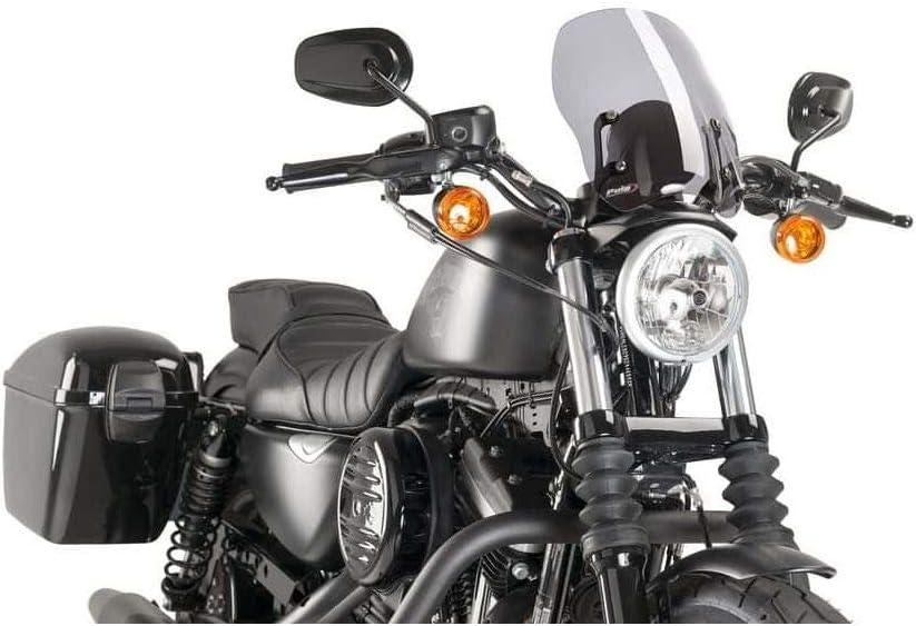 09 883R Harley Davidson Sportster Superlow XL883R XL883L XL1200C XL883N 11-17 XL1200N 02 NIGHSTER 04 883 Iron Puig 9283N Windscreen Touring Custom 08
