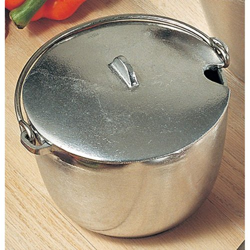 1 qt 5 1/4 inch Soup Tureen with Bail Handle Pewter Glo 3 Ct (Tureen Pewter Soup)