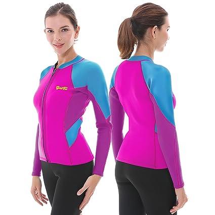 c084f527ef Amazon.com  Goldfin Women s Wetsuit Top