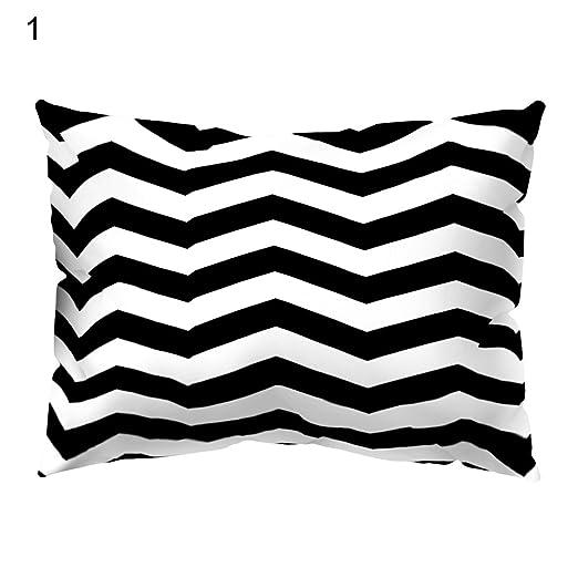 Sukisuki diseño geométrico, Color Blanco Negro Funda de ...