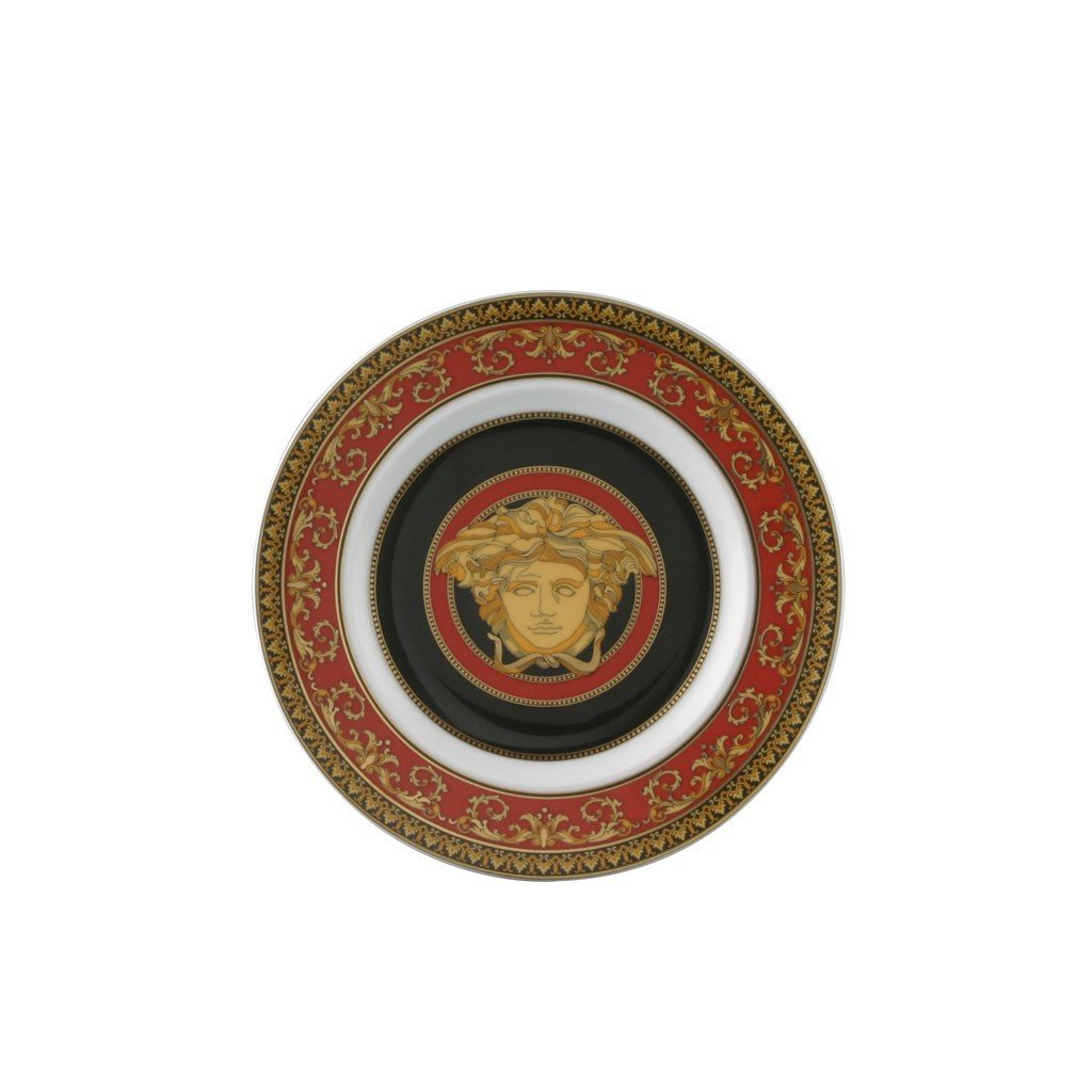 Versace by Rosenthal Medusa Red Bread & Butter Plate