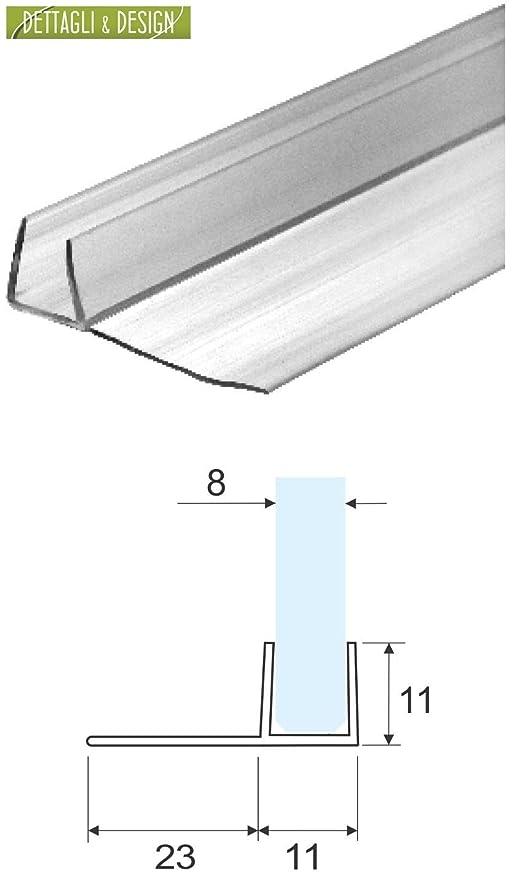 Guarnizione box doccia trasparente a palloncino per vetro 10mm 2,20 mt