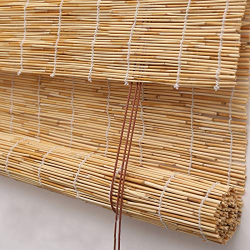 PASSENGER PIGEON Reed Window Blinds, Light Filtering Roll Up Blinds with Valance for Garden,Patio,Gallery,Balcony 70